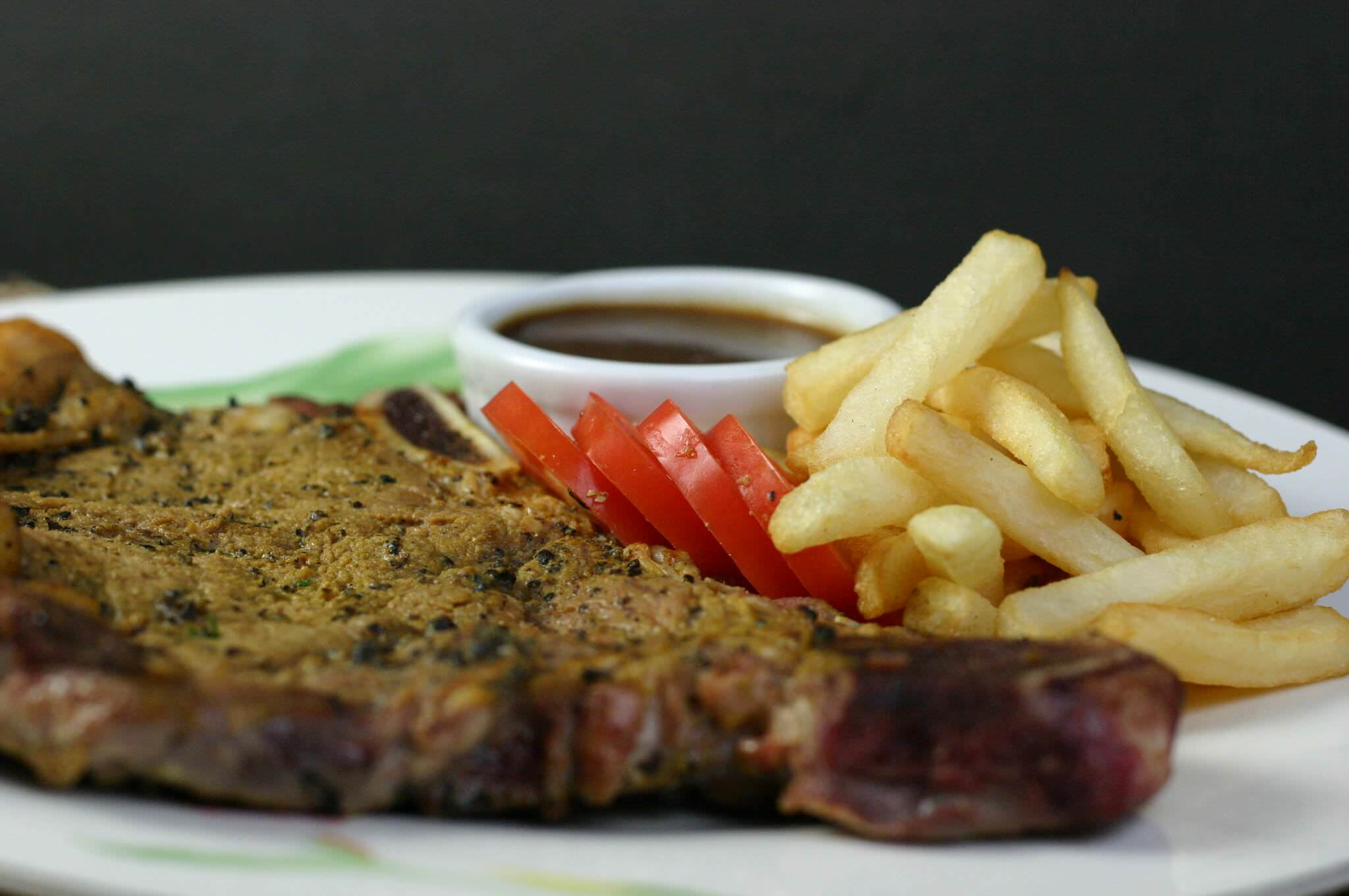 Pan Seared T Bone Steak